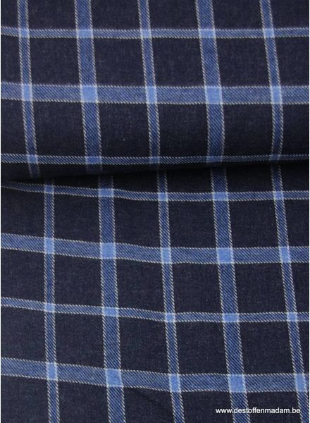 LMV diamonds blue - flanel S