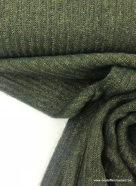 LMV Megan sweaterdress - green knitted fabric