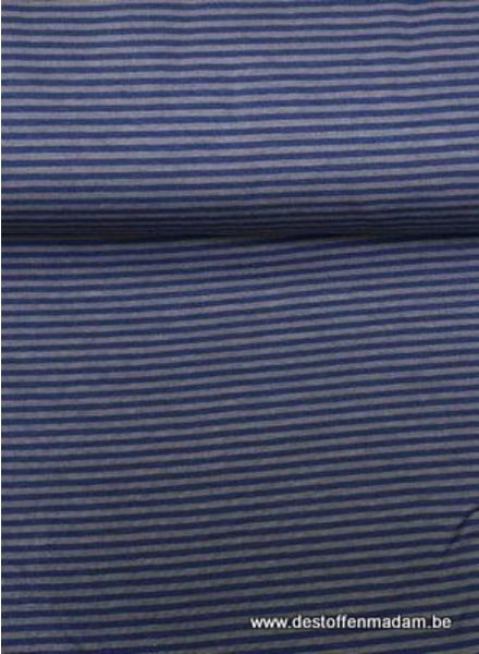 F&D - grey and blue stripes - jersey cotton