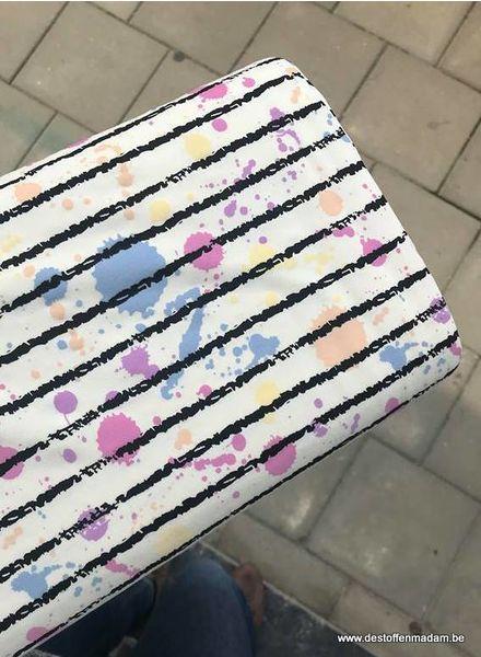 striped magic UV fabric