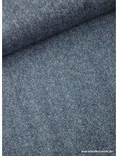 kobalt tweed look - wollen stof S