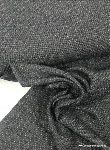 winter cotton dots - dark grey