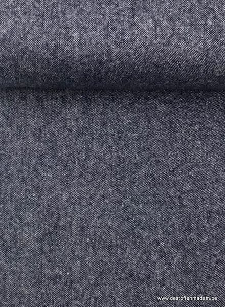 kobalt melee - dunne wollen stof