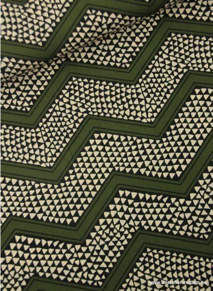 chevron kaki -  polyester fabric