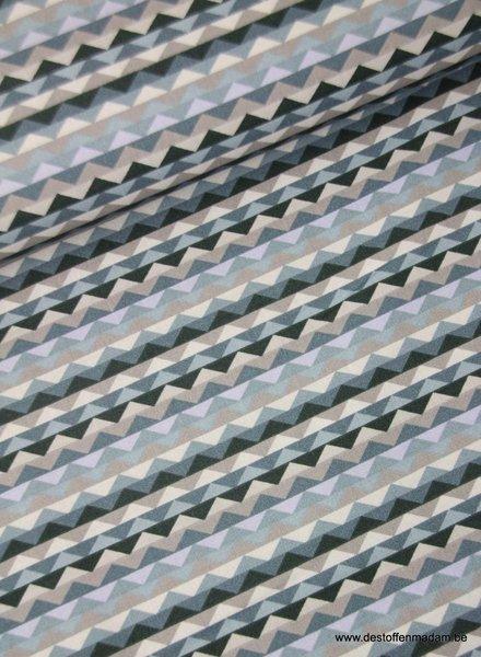 driehoekjes blauw -  katoen S