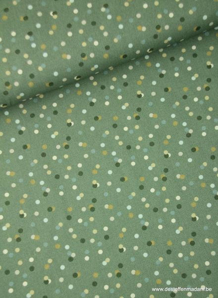 confetti groen - katoen S