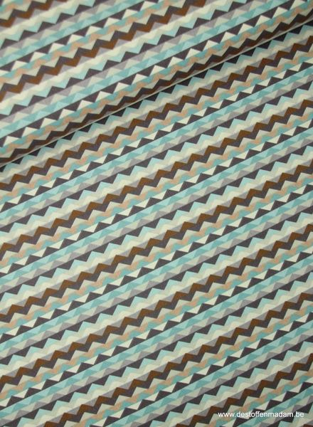 triangles brown - cotton