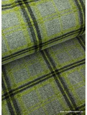 green checks - woolen coat fabric