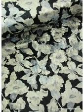 black flower - velvet S