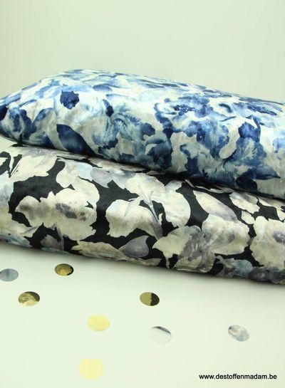 blauwe bloem - velvet
