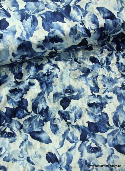 blue flower - velvet