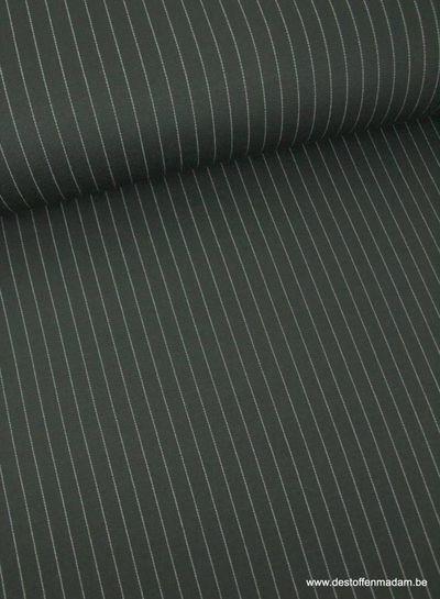chalk stripe black - knitted viscose jersey