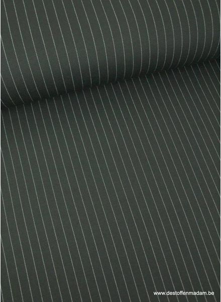 chalk stripe black - knitted viscose jersey