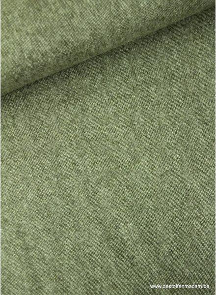khaki melee - dunne wollen stof