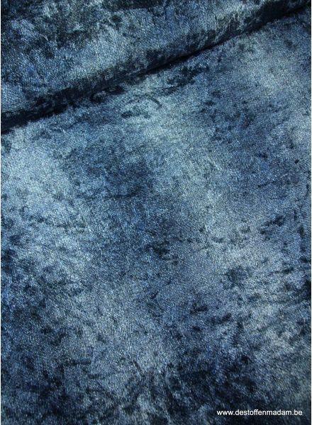 nieuw blauw gemeleerd - velvet S