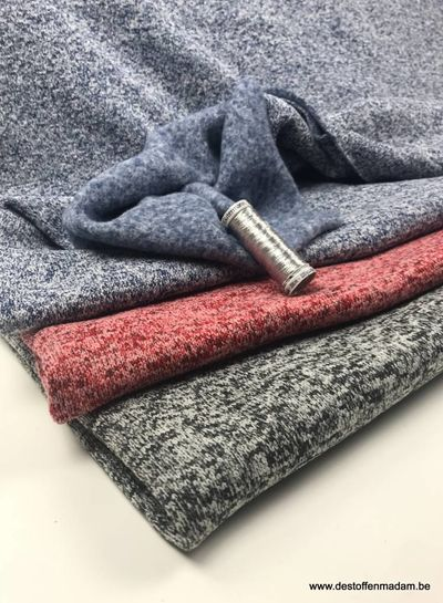 grey - thick knitted sweat fabric
