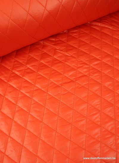 oranje gemattelasseerde jassenstof S
