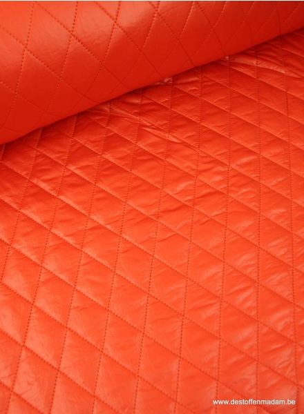 orange quilted coat fabric S