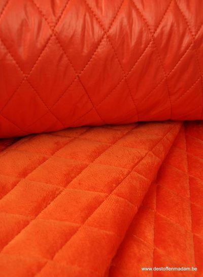 oranje gemattelasseerde jassenstof