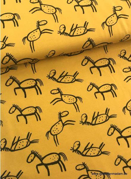 drawed horse ochre - jersey