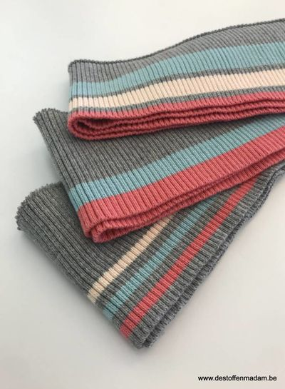 thick stripes mint/pink - ribbing