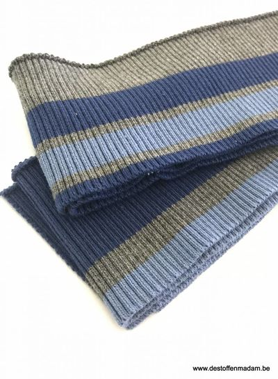 thin stripes blue/dark grey - ribbing