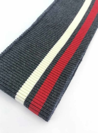 thin stripes red/white/grey - ribbing