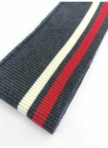 thin stripes red/white/grey - ribbing