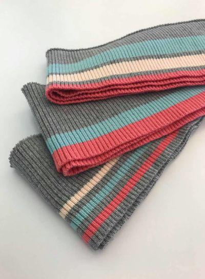 3 thin stripes mint/pink - ribbing