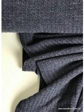 blauw - jacquard jersey S