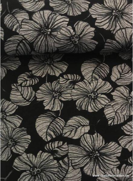Marcel flower - viscose jersey S
