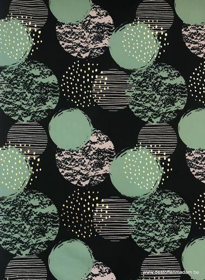 groene cirkels met gouden foil - softshell S