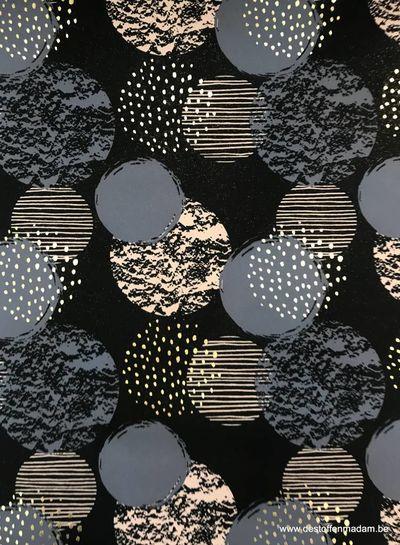 blauwe cirkels met gouden foil - softshell