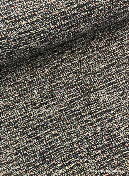 blue boucle - jacquard coat fabric S