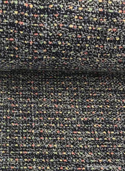 blue boucle - jacquard coat fabric S
