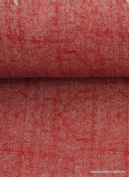 bordeaux sweater met tweed print