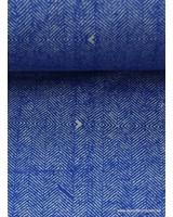 kobaltblauwe sweater met tweed print