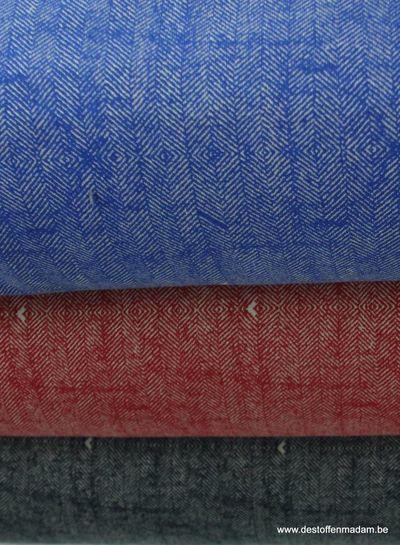 marineblauwe sweater met tweed print S