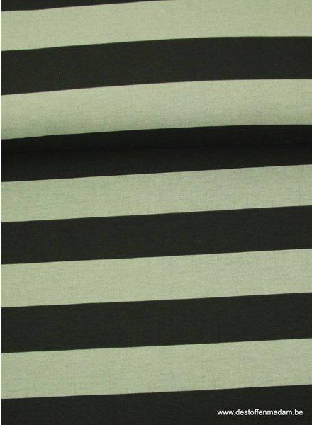 grijze brede strepen -  sweater