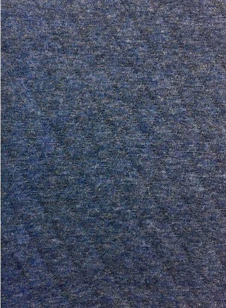 Jeansblauwe – ORGANIC doorstikte sweaterstof -