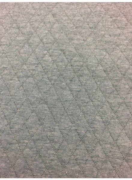 grijze- ORGANIC doorstikte sweaterstof -