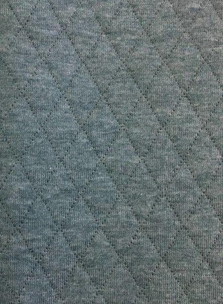 Blauwe – ORGANIC doorstikte sweaterstof -