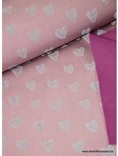 hearts pink -  reflecting softshell S