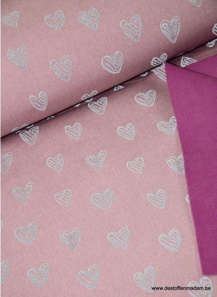 hartjes roze - reflecterende softshell S