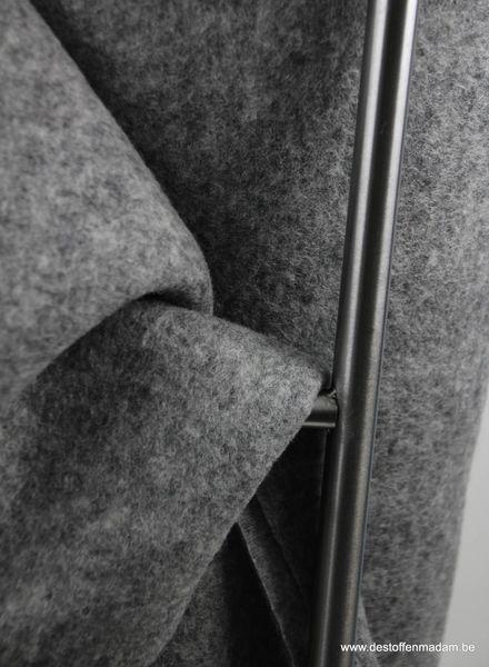 Ronja grey - coat fabric