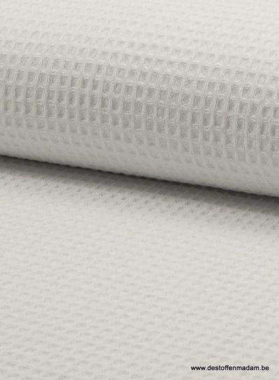 white - waffle cotton