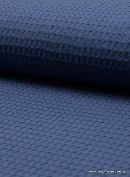 denimblauw donker -  wafelkatoen