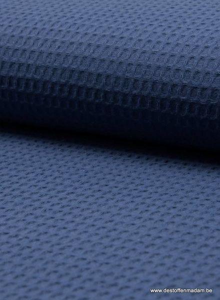 donker denimblauw -  wafelkatoen
