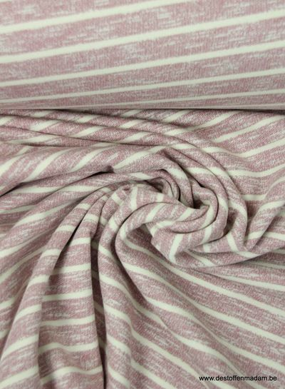 pink stripes - cotton jogging