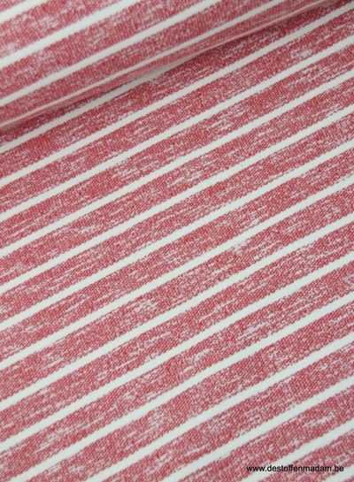 red stripes - cotton jogging